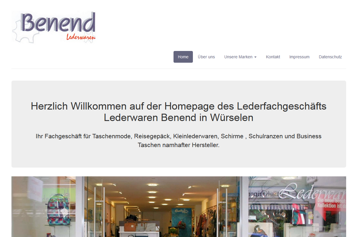 Referenzkunde Lederwaren Benend Würselen